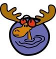 Moose ear muffs vector image