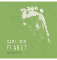 nature conservation poster vector image vector image