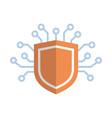 shield icon media network data protection concept vector image