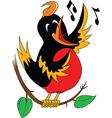 Singing bird cartoon vector image vector image