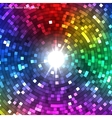 Abstract Colorful Disco Lights Tunnel vector image vector image