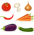 set of vegetables vector image vector image