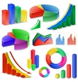 charts and graphs collection vector image vector image