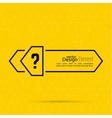 Question mark blank template vector image