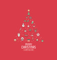 christmas greeting card invitation or background vector image