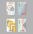 creative abstract trend brochure set vector image