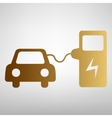 Electrocar battery charging sign vector image