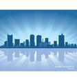 Fort worth texas skyline vector image