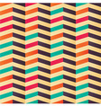 Geometric seamless pattern with colorful chevron vector image