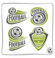 logo football ball vector image