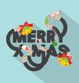 Merry X-mas Typography Design vector image