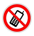No phone sign 804 vector image