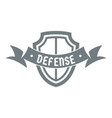 shield knight logo simple gray style vector image