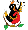 Singing bird cartoon vector image