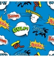 Vintage comic shout seamless pattern vector image