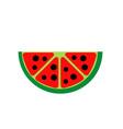 Watermelon fruit logo vector image