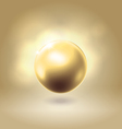 Golden glowing gorgeous pearl ball vector