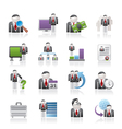 management and hierarchy icons vector image