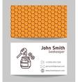 Beekeeper natural honey vector image
