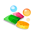 icon bath goods vector image