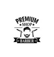 premium barbershop salon mustaches icon vector image