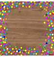 Wood Background With Confetti vector image vector image