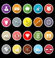 Stock market icons with long shadow vector image vector image