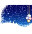 Christmas Blue Background From Snow vector image vector image