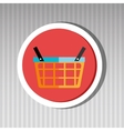 basket buy market shop vector image