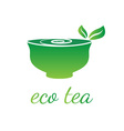 cup with leaf tea vector image
