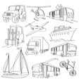 doodle transport vector image