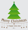 merry christmas lettering design background vector image