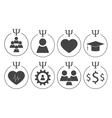 Set of psychology symbols vector image