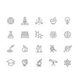 set of science and research line icons vector image