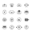 Vintage bakery badges labels and logos vector image