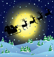 Winter background with Santa sledge vector image