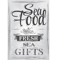 Poster Sea food fresh sea gifts charcoal vector image
