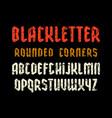 narrow sanserif font in black letter style vector image