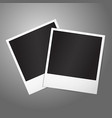 Two blank instant photo frames Template for your vector image