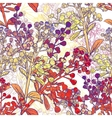 Floral Colorful Seamless Background with Branches vector image