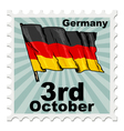 national day of Germany vector image