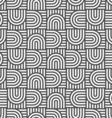 Monochrome geometric striped seamless pattern vector image