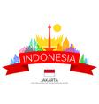 Indonesia Travel jakarta Travel vector image