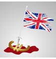color united kingdom flag euro killing eps10 vector image
