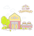 Agribusiness of colorful modern farm life a vector image