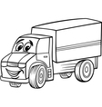 funny truck cartoon for coloring book vector image