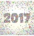 New Year 2017 celebration background vector image