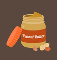 peanut butter vector image