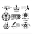 Running club labels emblems and design elements vector image