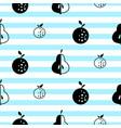 scandinavian style fruit seamless vactor pattern vector image